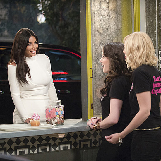 Here's Kim Kardashian Making an Appearance on 2 Broke Girls!