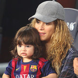 Pregnant Shakira With Milan at Gerard Pique's Game
