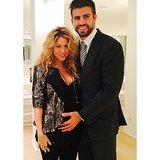 Shakira and Gerard Pique Baby Bump Picture