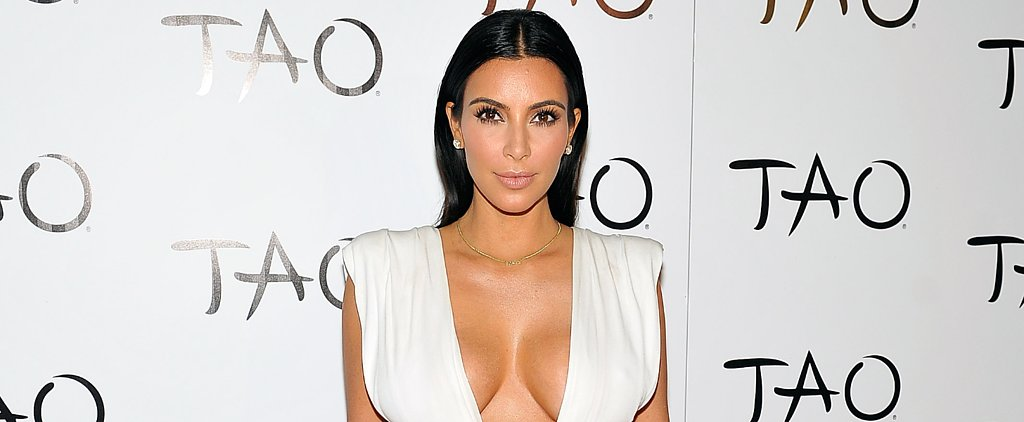 Kim Kardashian's Plunging Party Dress Is a Must-See