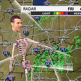 Whoa! A Kentucky Weatherman Became a Skeleton For Halloween