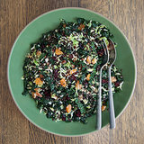 Brussels Sprout, Lentil, and Kale Salad With Cranberries