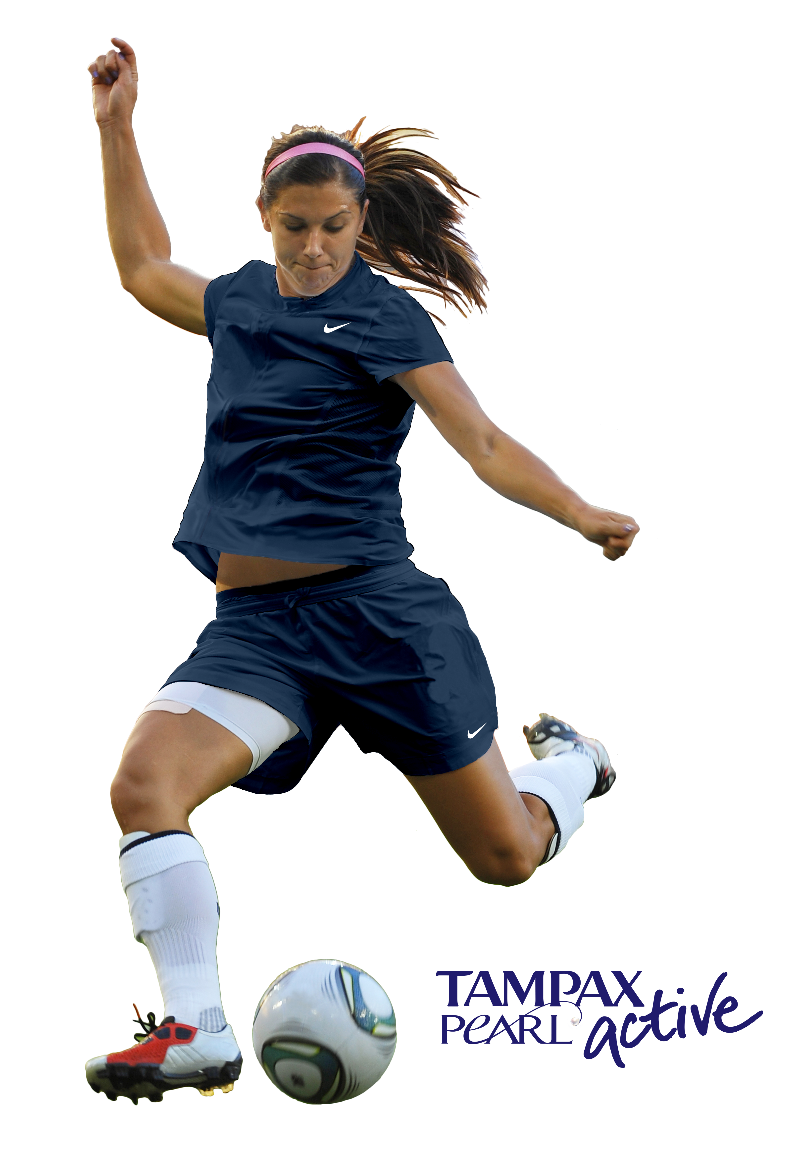 Alex Morgan Pro Women Soccer Player Tampax Pearl Active