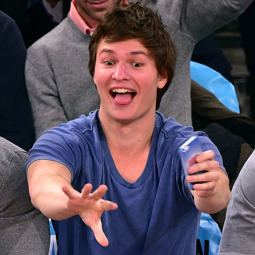 Ansel Elgort at the Knicks Game January 2015