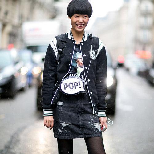 Model Street Style at Paris Fashion Week Fall 2015
