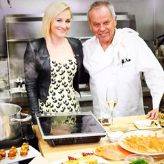 In the kitchen with @chefwolfgangpuck!