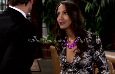 lily's purple necklace the young and the restless