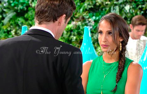 Lily Winters ashby green dress the young and the restless