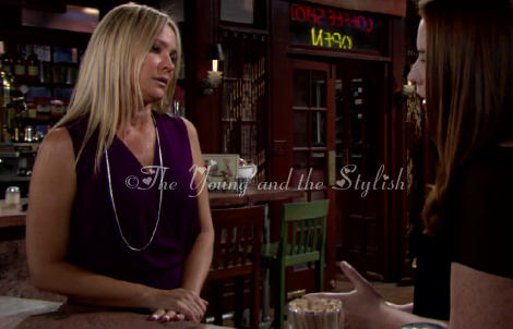 sharon newman purple top the young and the restless sharon case