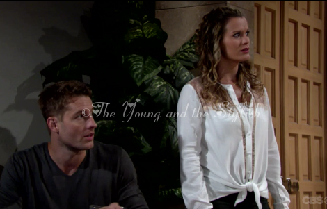 chelsea newman white lace top the young and the restless