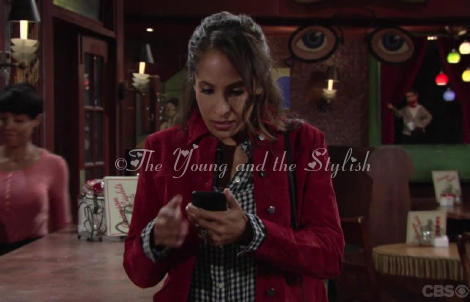 lily winters ashby red suede jacket the young and the restless