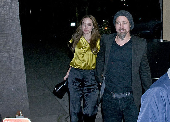 Brad and Angie leave La Dolce Vita