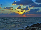 Sunset at Drum beach, Tel Aviv