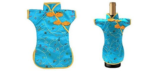Brocade Chinese Cheongsam Wine Bottle Cover