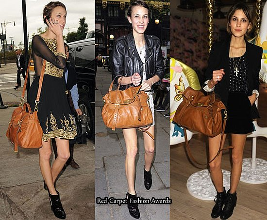 Alexa Chung loves her Mulberry Bag