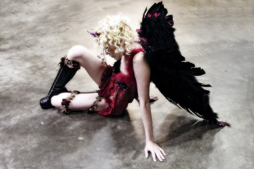 Bad A$$ Fallen Angel With Broken Wings