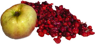 Homemade Cranberry Apple Mask