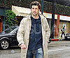 Slide Photo of Patrick Dempsey in the Rain in LA