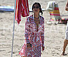 Slide Photo of Courteney Cox Walking on Beach in Malibu