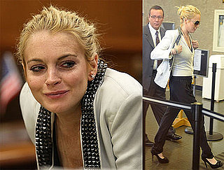 Photos of Lindsay Lohan Arriving at an LA Courthouse