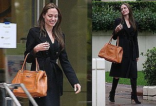 Photos of Angelina Jolie in LA to Officially Sign on For The Tourist