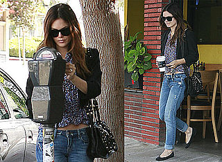 Photos of Rachel Bilson in LA Paying Her Parking Meter