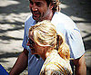 Slide Photo of Julia Roberts and Javier Bardem Filming Eat Pray Love