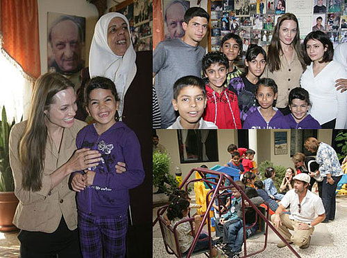 Photos of Brad and Angelina in Jordan at a Jordanian Orphanage