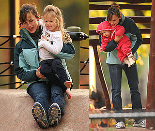 Photos of Jennifer Garner At The Park In Boston With Seraphina and Violet