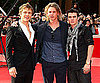 Slide Photo of Charlie Bewley, Jamie Campbell Bower and Cameron Bright from New Moon on Red Carpet at Rome IFF