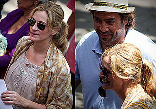 Photos of Julia Roberts and Javier Bardem Filming Eat, Pray, Love 2009-10-20 14:14:10