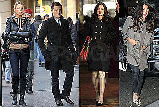 Photos of Ed Westwick, Jessica Szohr, Blake Lively, and Leighton Meester on the Set of Gossip Girl