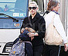 Slide Photo of Kate Winslet Picking up son Joe Mendes from School
