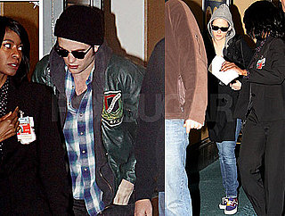 Photos of Robert Pattinson and Kristen Stewart Leaving Vancouver After Wrapping Up Production on Eclipse