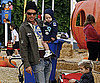 Slide Photo of Gavin Rossdale with Zuma and Kingston At Pumpkin Patch In LA
