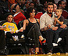 Slide Photos of David, Victoria, Cruz and Brooklyn Beckham at the LA Lakers Game