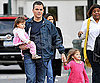 Slide Photo of Matt Damon with Kids Isabella and Gia on Set of The Adjustment Bureau