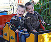 Slide Photo of Sean Preston Federline and Jayden James Federline on a Mini Train in LA