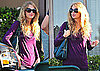 Photos of Taylor Swift Wearing a Purple Shirt Arriving at a Photo Shoot in LA