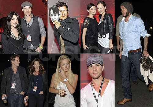 Photos of Ashley Greene, Kellan Lutz, Ginnifer Goodwin, Ryan Phillippe, David Beckham, Colin Farrell at a U2 Concert