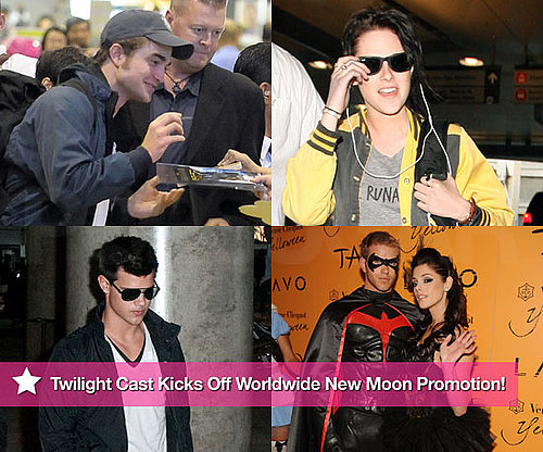 Photos of Robert Pattinson, Kristen Stewart, Taylor Lautner Promoting New Moon Around The World