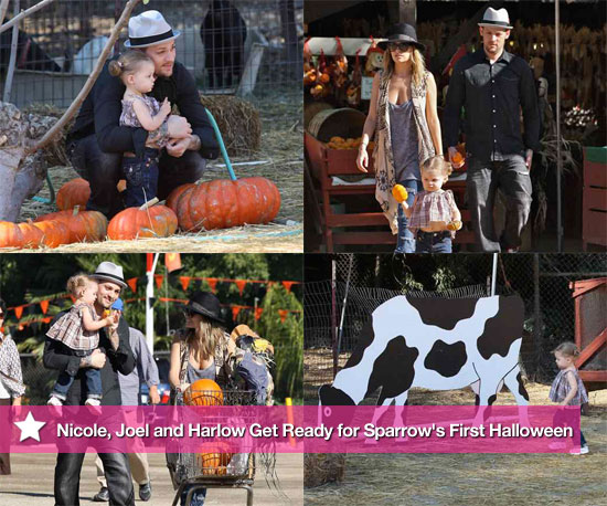 Nicole, Joel and Harlow Get Ready For Sparrow's First Halloween