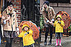 Photos of Michelle Williams and Matilda Ledger Heading to School in the Rain in NYC