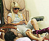 Slide Photo of Paris Hilton Getting Her Nails Done in LA