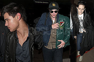 Photos of Robert Pattinson, Kristen Stewart and Taylor Lautner at LAX