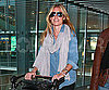 Slide Photo of Cat Deeley Wheeling Through the Airport