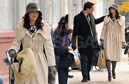Photos of The Set of Gossip Girl With Ed Westwick and Leighton Meester