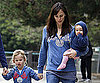Slide Photo of Jennifer Garner and Violet and Seraphina at the Park