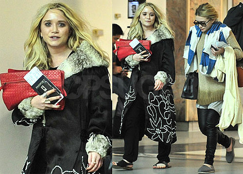 Photos of Ashley And Mary-Kate Olsen Together at LAX