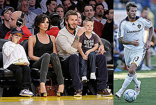 Photos of David and Victoria Beckham at Lakers Games And a Galaxy Game in LA
